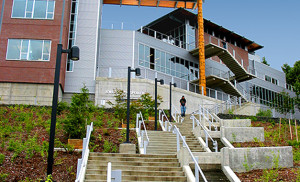Cardiac Lane stairs at Grays Harbor College